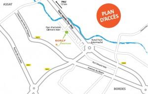 Plan d'accès SOREF